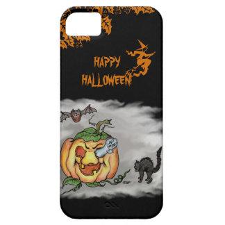 幽霊猫のこうもりのカボチャとのハッピーハローウィン iPhone SE/5/5s ケース