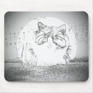 幽霊猫のスポットライト マウスパッド