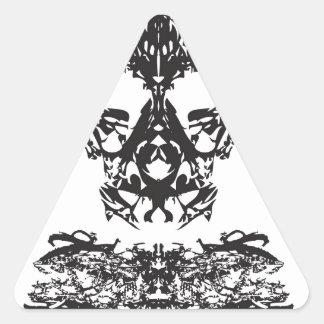 幽霊 三角形シール