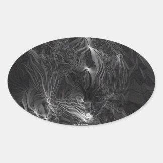 幽霊 楕円形シール