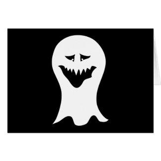 幽霊。 白黒。 カード