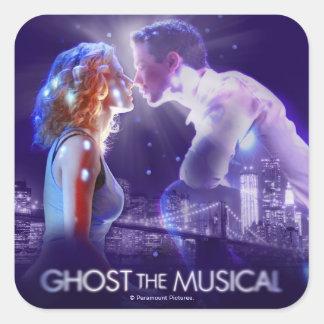 幽霊-音楽的なロゴ スクエアシール