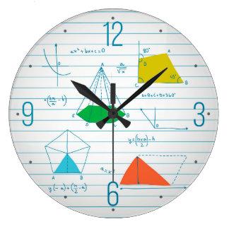 幾何学および数学グラフ円形の柱時計 ラージ壁時計