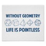 幾何学なしで生命は無意味です ポスター