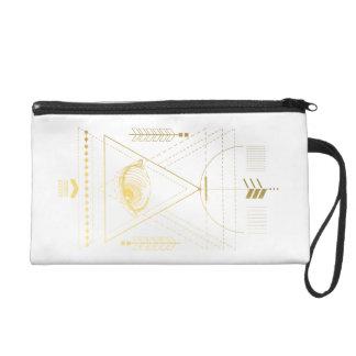 幾何学のリストレットのBohoの金神聖なバッグ リストレット