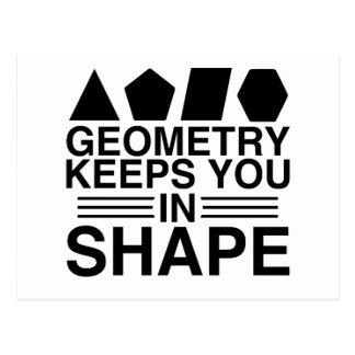 幾何学は形の数学のしゃれの冗談の保ちます ポストカード