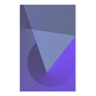 幾何学的ですか。 抽象的な紫色の文房具 便箋