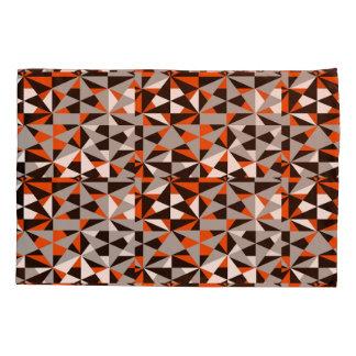 幾何学的ではっきりしたなレトロのファンキーなオレンジ灰色の白黒 枕カバー