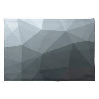 幾何学的でグラデーションな灰色のColorblock ランチョンマット
