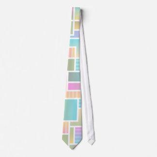 幾何学的でグラデーションな虹Colorblock ネクタイ