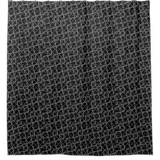幾何学的でグランジなパターン シャワーカーテン
