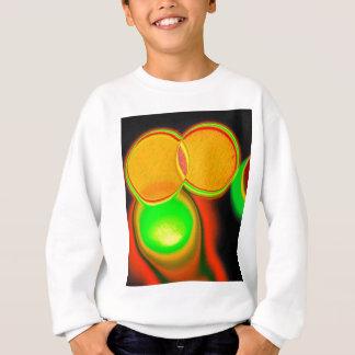 幾何学的でサイケデリックな円 スウェットシャツ