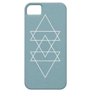 幾何学的でモダンな石板の青くミニマルな三角形の芸術 iPhone SE/5/5s ケース