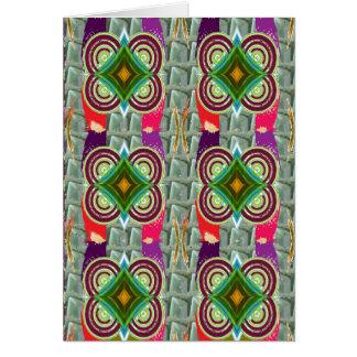 幾何学的で写実的な宝石のDecoのおもしろいカード挨拶 カード