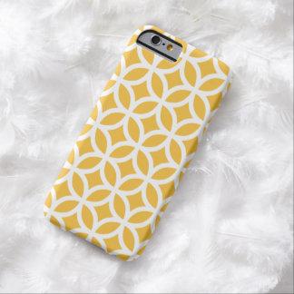 幾何学的で太陽ので黄色いiPhone6ケース Barely There iPhone 6 ケース