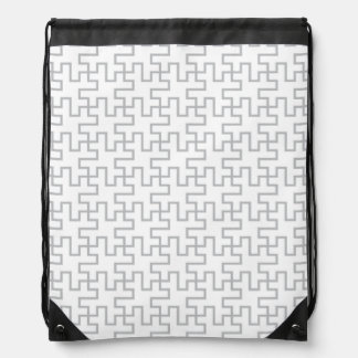 幾何学的で抽象的な床のデザイン ナップサック