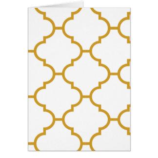 幾何学的で華美で黄色いデザイン カード