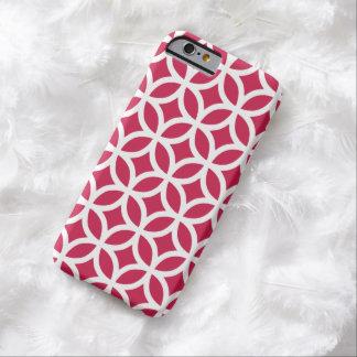 幾何学的で赤いiPhone6ケース Barely There iPhone 6 ケース