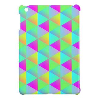 幾何学的なぽんと鳴る虹のブロックはパターン(の模様が)ある立方体にします iPad MINI カバー