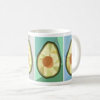 幾何学的なアボカドのマグ コーヒーマグカップ