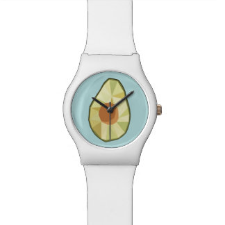 幾何学的なアボカドの腕時計 腕時計