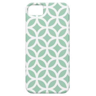 幾何学的なアメリカツガの緑のiPhone 5/5Sの場合 iPhone SE/5/5s ケース