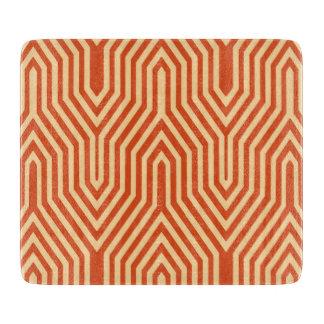 幾何学的なアールデコ-マンダリンオレンジ カッティングボード
