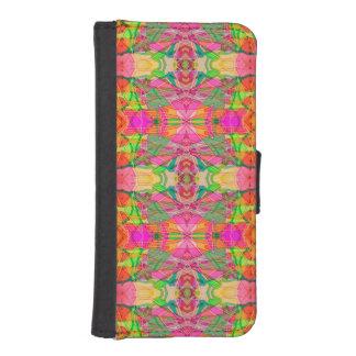 幾何学的なウォレットケースのiPhone 5sの民族のフラクタル iPhoneSE/5/5sウォレットケース
