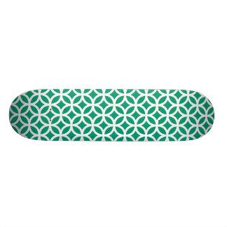 幾何学的なエメラルドグリーン スケートボード