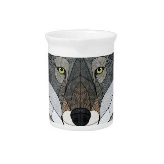 幾何学的なオオカミ ピッチャー
