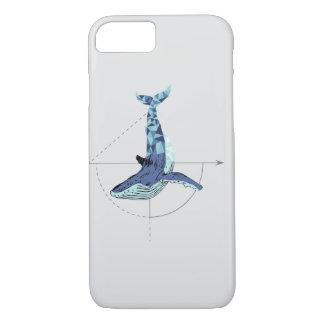 幾何学的なクジラ iPhone 8/7ケース