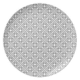 幾何学的なダイヤモンドパターンプレート プレート