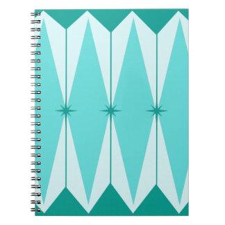 幾何学的なダイヤモンド及びスターバストの螺線形ノート ノートブック