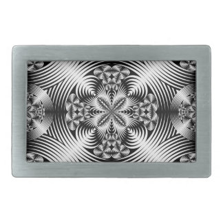 幾何学的なダマスク織パターン 長方形ベルトバックル