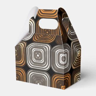 幾何学的なチョコレートパターン フェイバーボックス