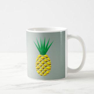 幾何学的なトレンディーの様式化されたパイナップル コーヒーマグカップ