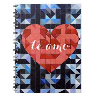 幾何学的なハート。 愛 ノートブック