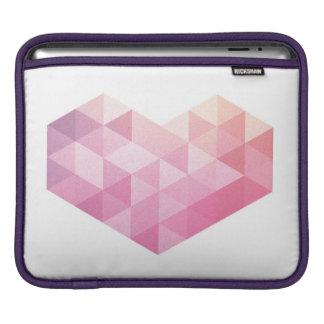 幾何学的なハート iPadスリーブ