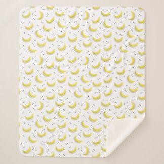 幾何学的なバナナ シェルパブランケット