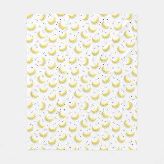 幾何学的なバナナ フリースブランケット