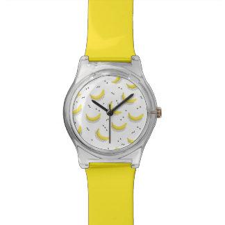幾何学的なバナナ 腕時計