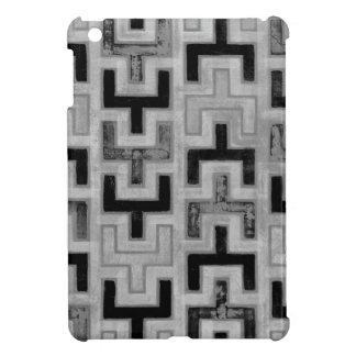 幾何学的なパターンが付いているアフリカ人のMudclothの織物 iPad Miniケース