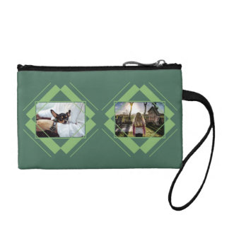 幾何学的なパターンアクセサリーバッグのあなたの4つの写真 コインパース