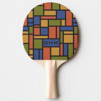 幾何学的なパターンカスタムなモノグラムの卓球ラケット 卓球ラケット