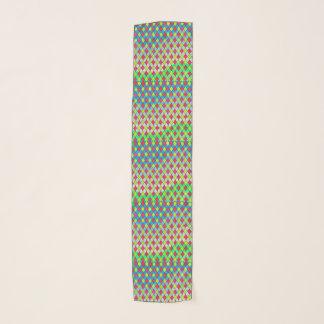 幾何学的なパターンシフォンのスカーフ スカーフ