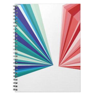 幾何学的なパターンノート ノートブック