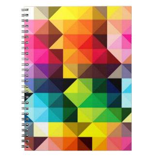 幾何学的なパターンベクトルカラフル ノートブック