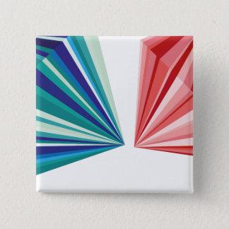 幾何学的なパターンボタン 5.1CM 正方形バッジ