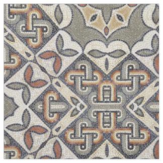 幾何学的なパターン暖かい灰色の金ゴールドID162 ファブリック