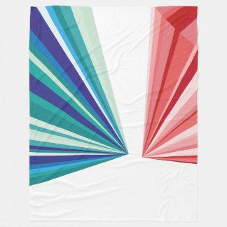 幾何学的なパターン毛布 フリースブランケット